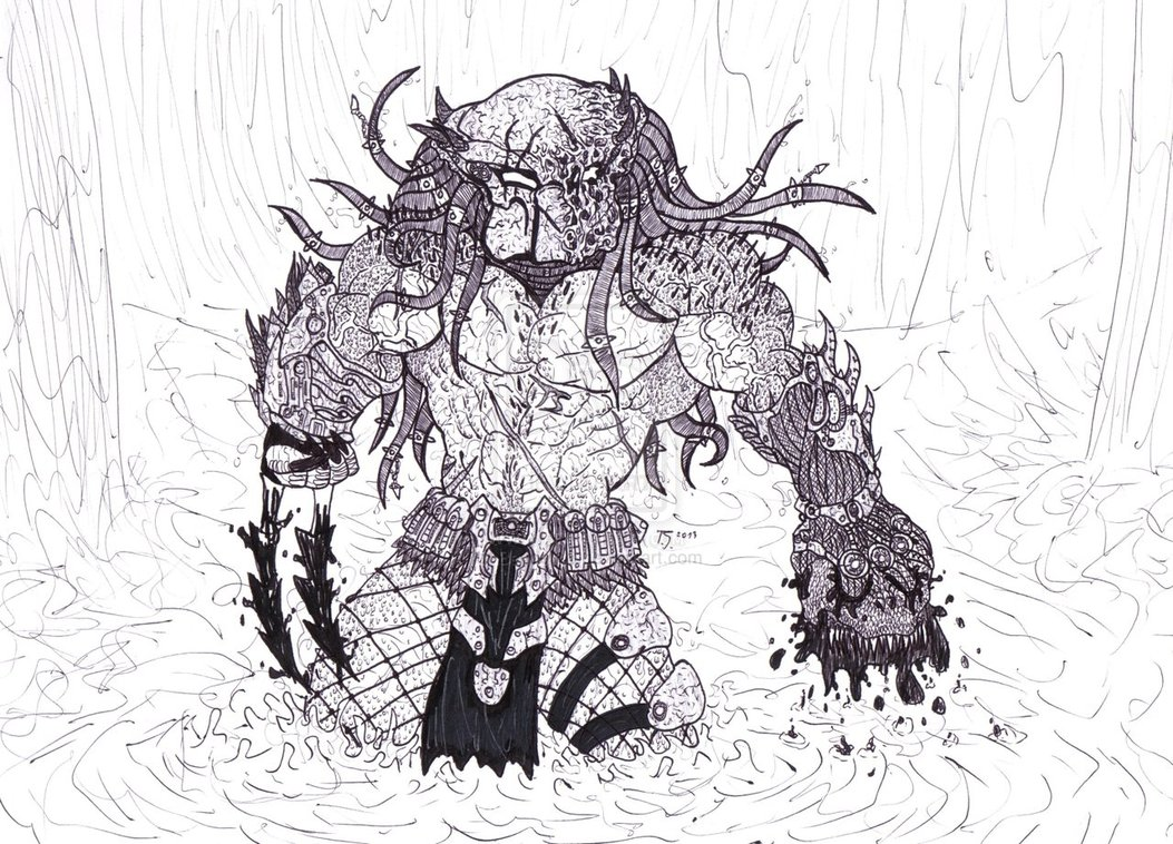 Drawn predator 4 scale Fav of Artworks works is