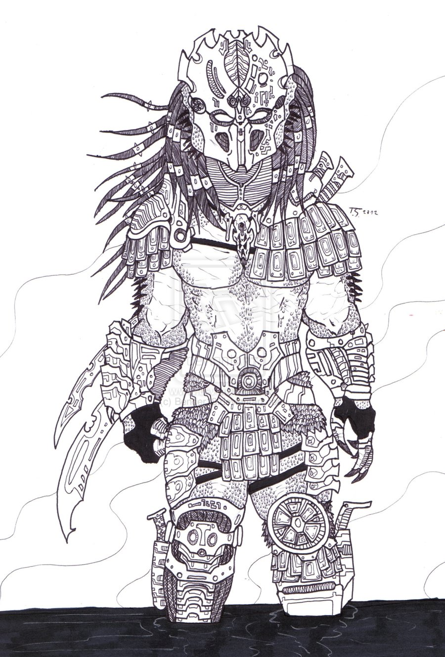 Drawn predator 4 scale Predator scale always Gi I