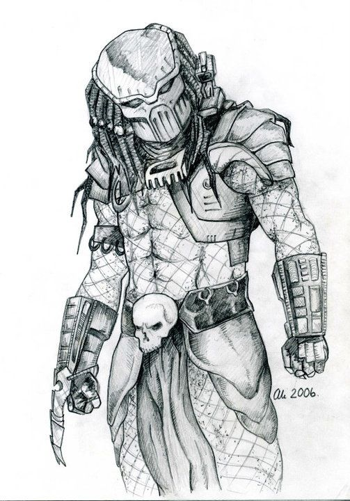 Drawn predator My images Pencil best 2006