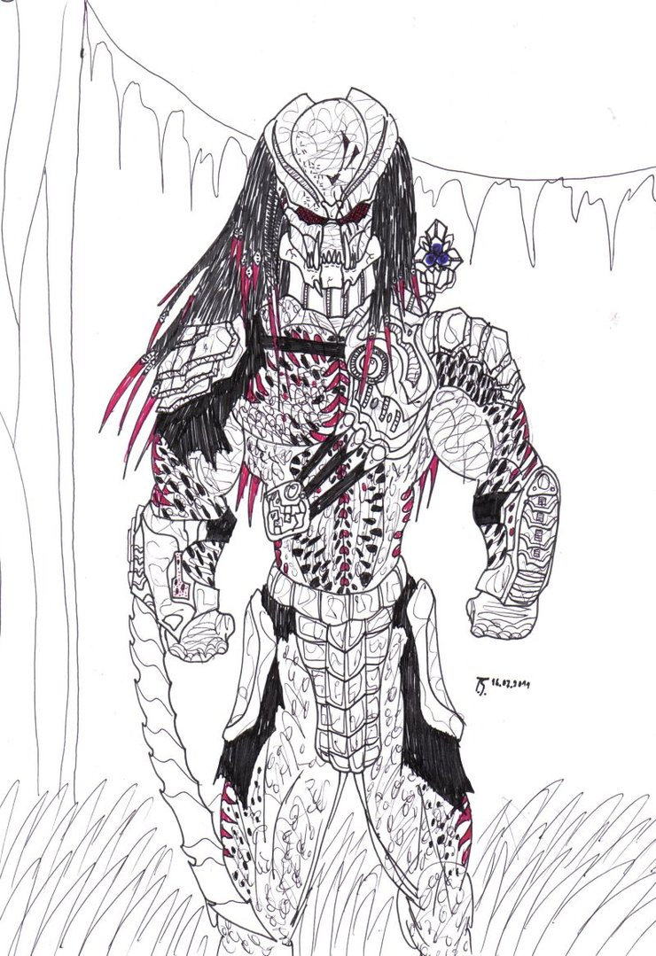 Drawn predator Predator Bender18 by by Berserker
