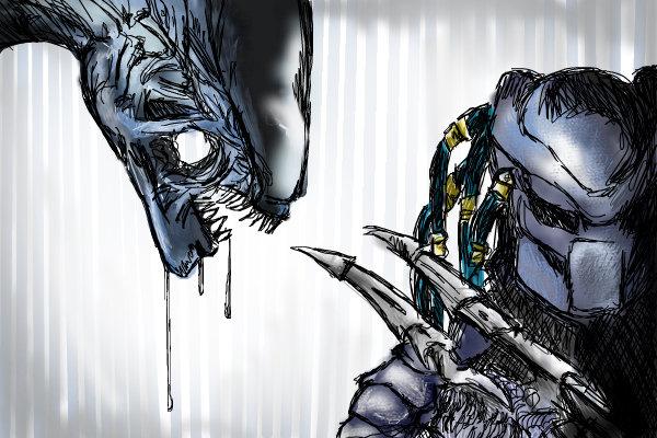 Drawn predator alian ← Predator Tricked art predator