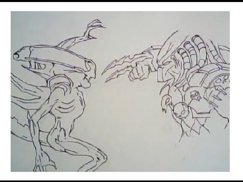 Drawn predator alien movie Predator 159) YouTube drawing Predator