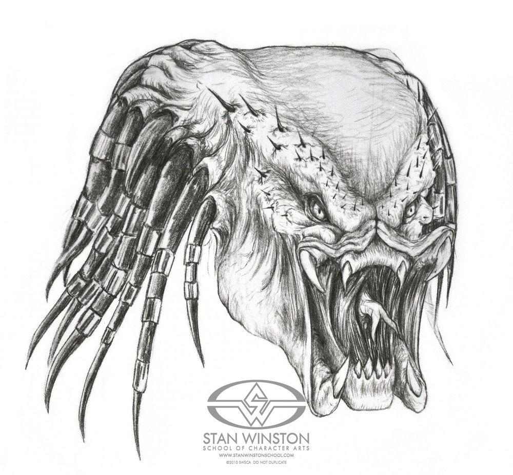 Drawn predator alien movie Winston Predator Movie Scenes Making