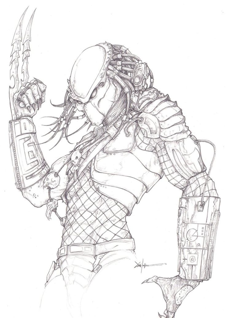 Drawn predator alien vs predator 60 this Pin on Pinterest