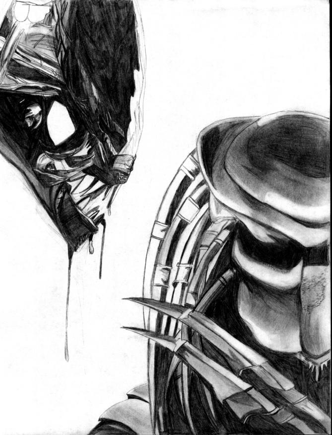 Drawn predator art Alien Something alien Find predator