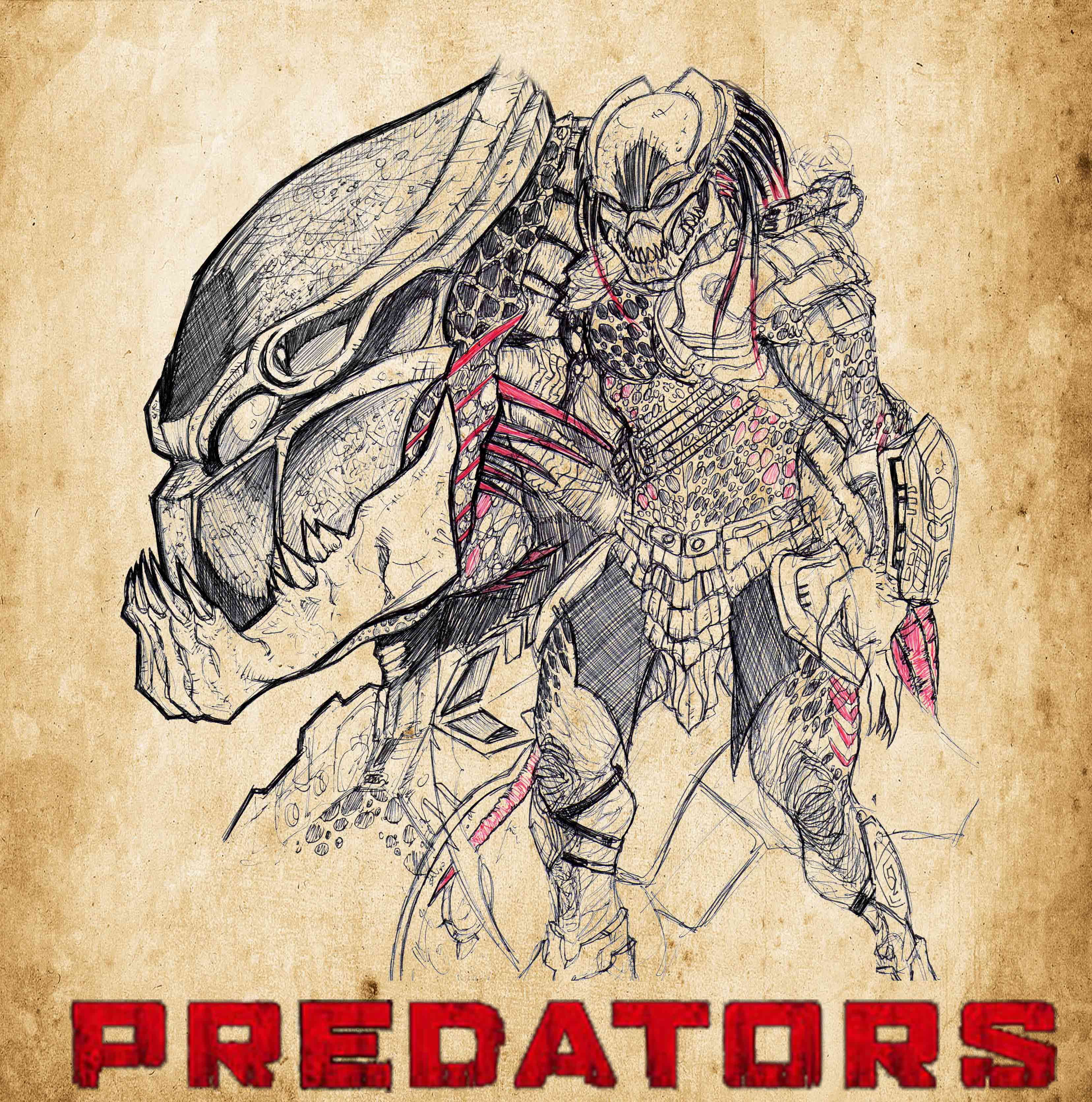 Drawn predator berserker On vandalocomics Bender18 BERSERKER berserkerpredator