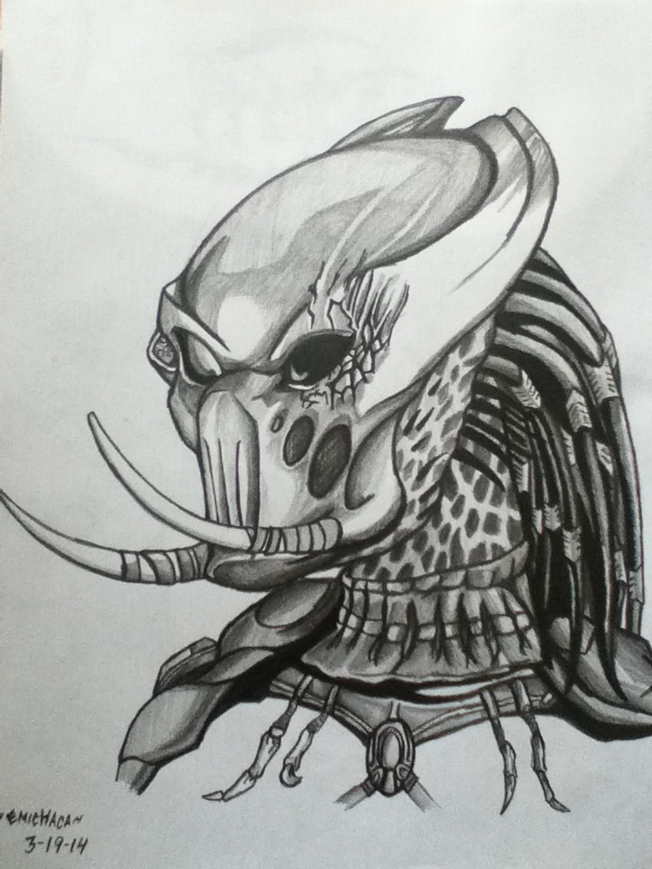 Drawn predator berserker Pencil emichaca PREDATORS: on Pencil