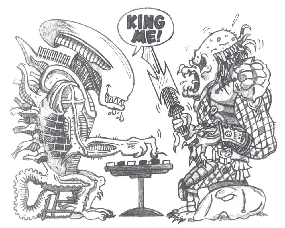 Drawn predator cartoon Daldaemar by DeviantArt on Alien