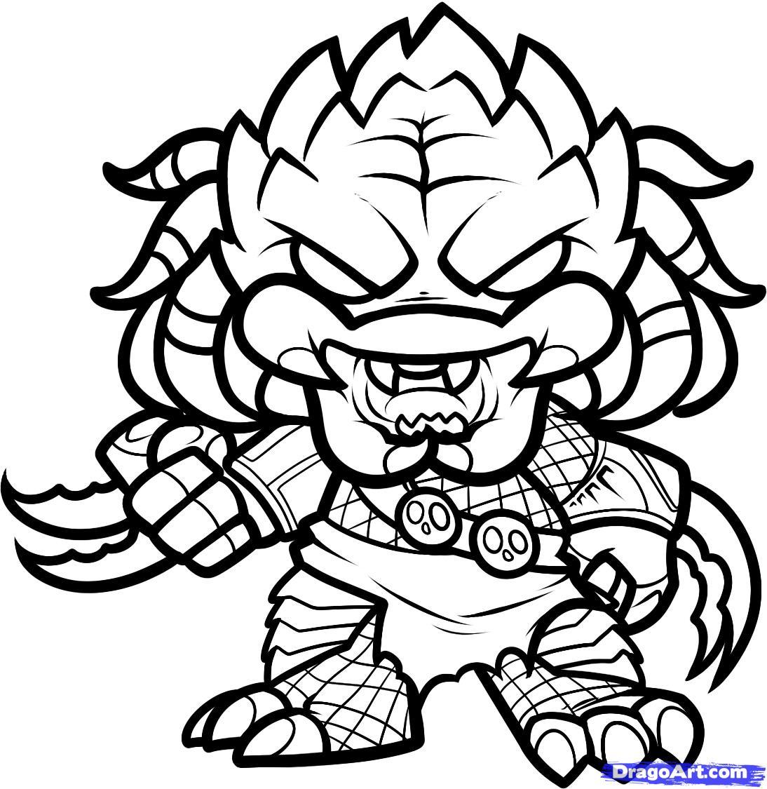 Drawn predator cartoon Predator Predator Chibi Draw to