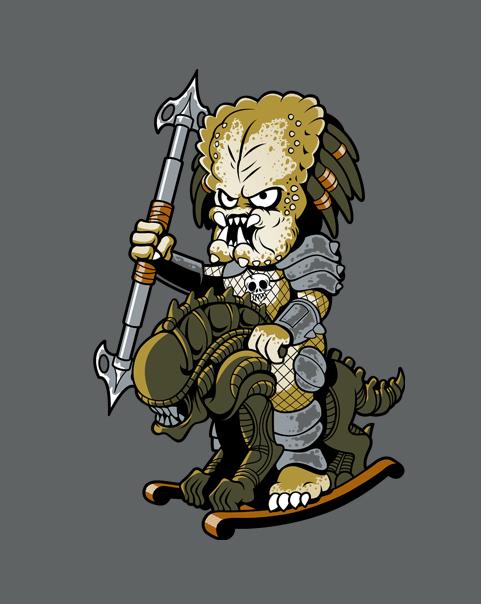 Drawn predator chibi  GET predator ROCKER! cute