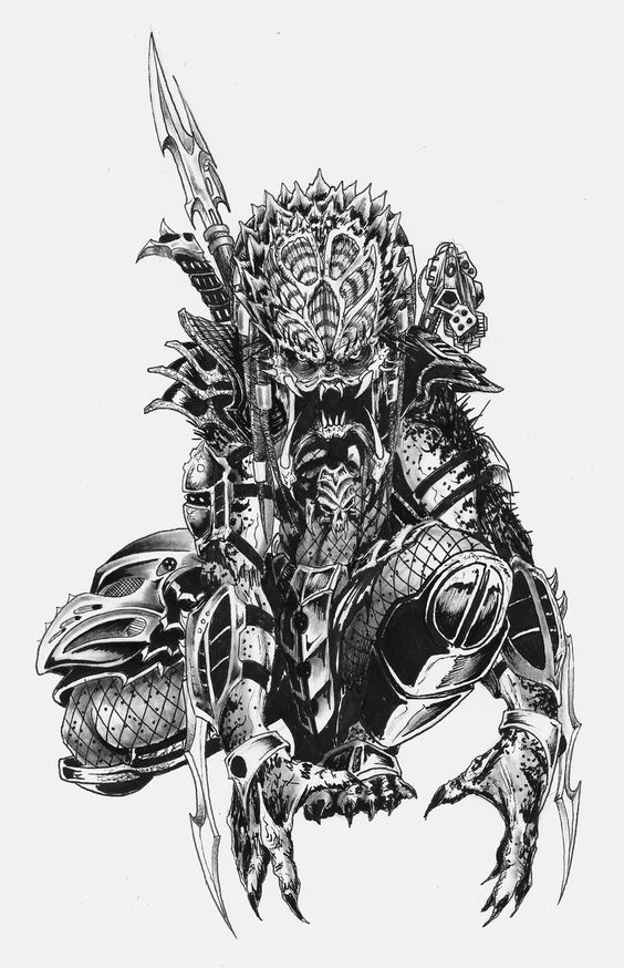 Drawn predator classic ALIENS yacobucci by on DeviantArt