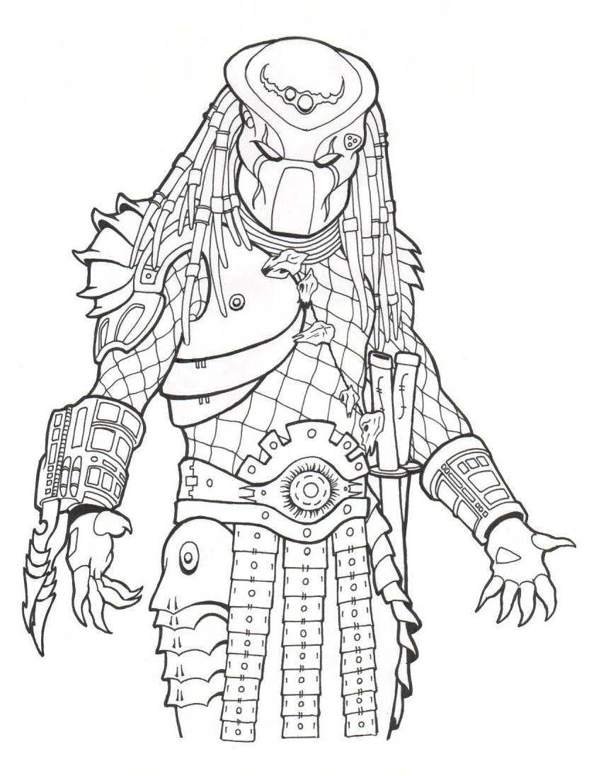 Drawn predator coloring Coloring to  pages print