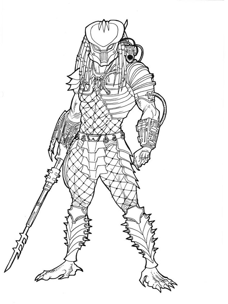 Drawn predator coloring Pages pages printable for kids