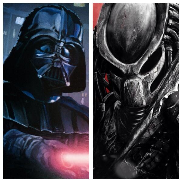 Drawn predator darth vader Darth the Vader Predator on