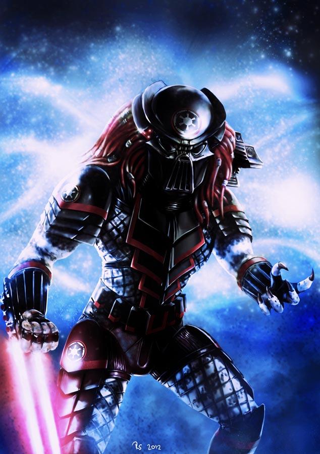 Drawn predator darth vader Wars Predator Wars (with on