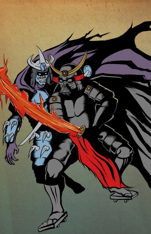 Drawn predator darth vader Shredder drawing going Samurai Shredder
