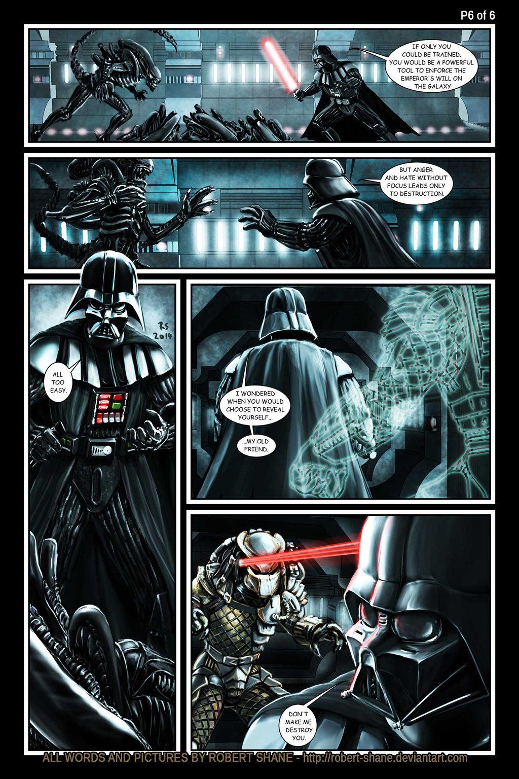 Drawn predator darth vader Vs & Darth Stormtroopers by