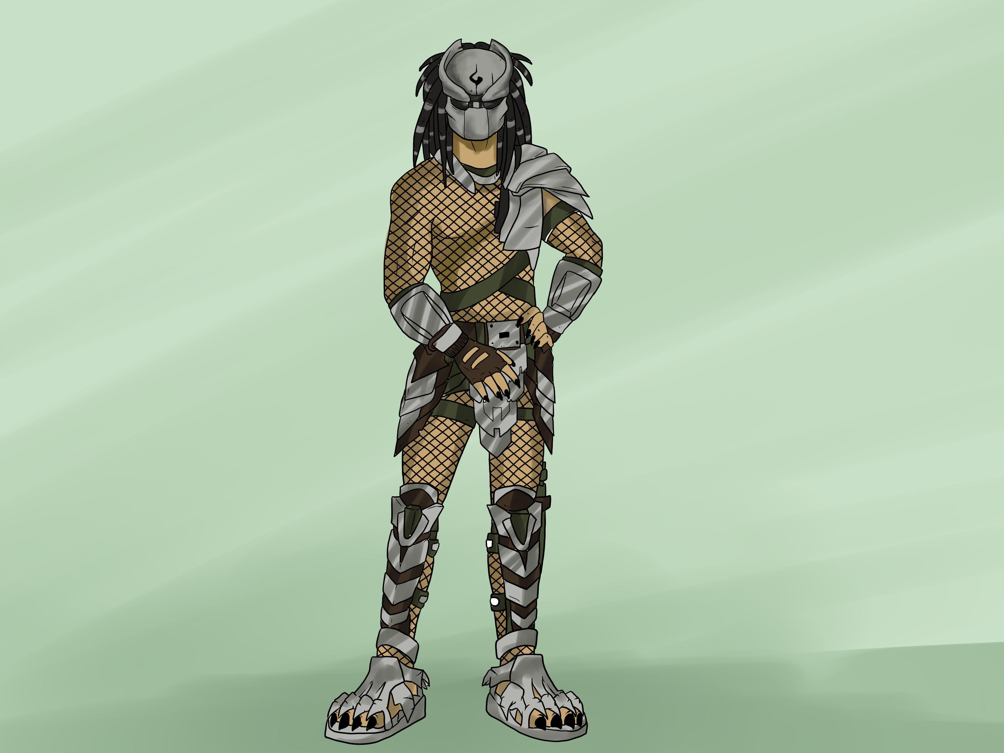 Drawn predator drawing WikiHow Predator (with to Draw