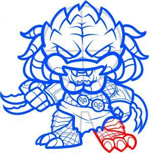 Drawn predator easy Draw Step how Chibi by