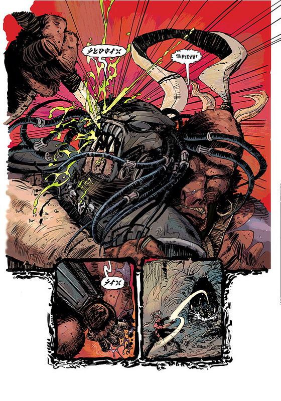 Drawn predator engineer Artist art? Which  comic