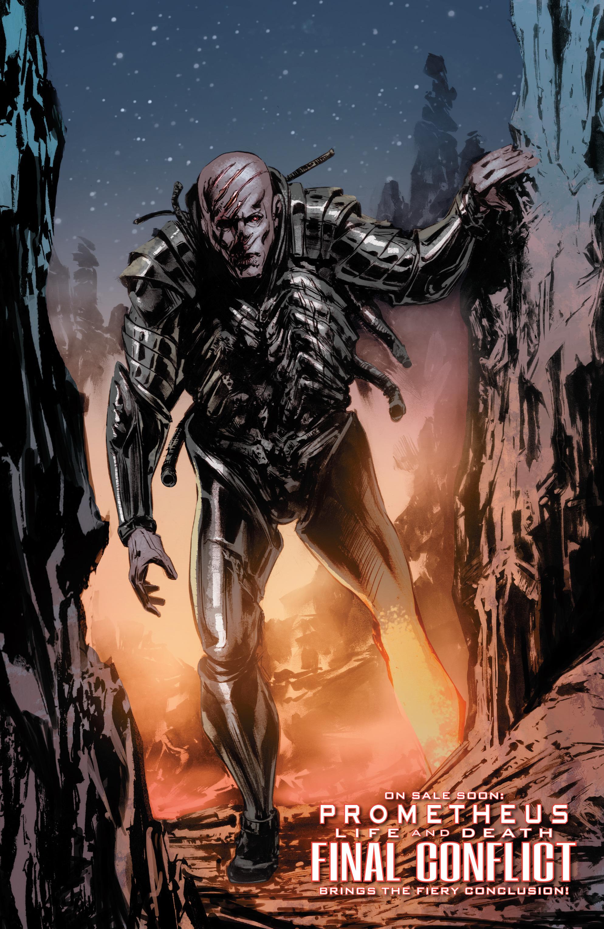 Drawn predator engineer Large Halo and slashing fight