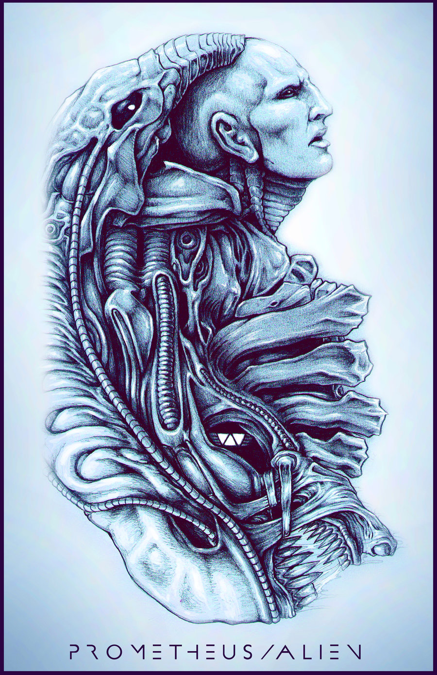 Drawn predator engineer ZachSmithson  WIP Prometheus/Alien by