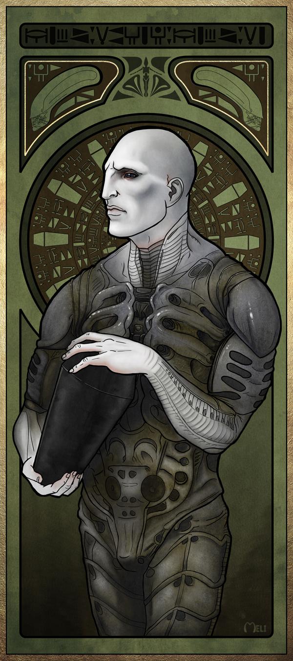 Drawn predator engineer Prometheus  FanArt