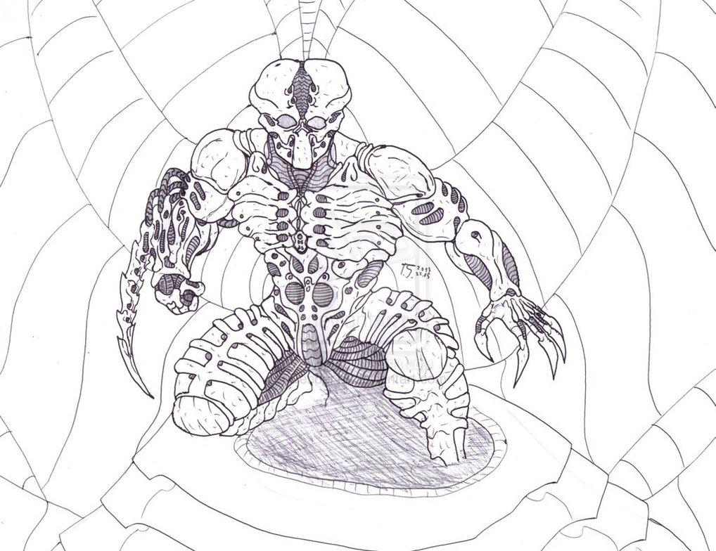 Drawn predator engineer Bender1988  Artworks