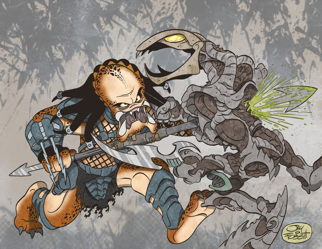 Drawn predator engineer comic VS on by PREDATOR PREDATOR