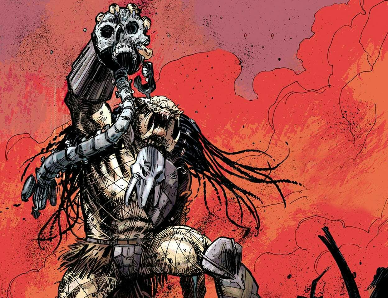 Drawn predator engineer comic Stands an The Taken of