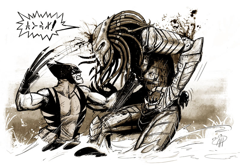 Drawn predator engineer comic And Universe? Would CBR Marvel