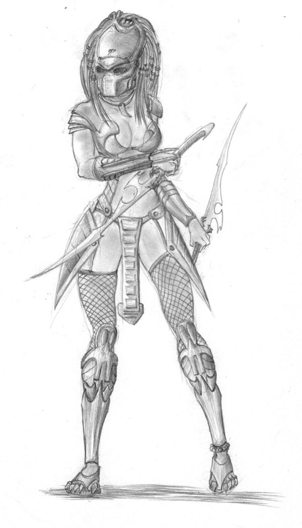 Drawn predator female human Female Predators Female Dream tmac1kobe8vc15