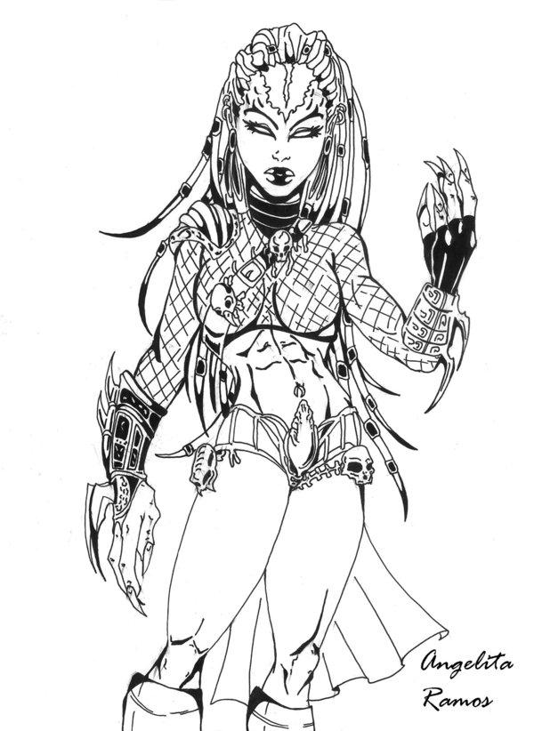 Drawn predator female human Predator AngelitaRamos by Predator on