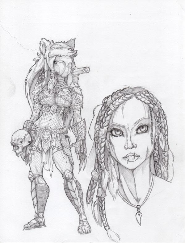 Drawn predator female predator LaTopazora on by Human Predator