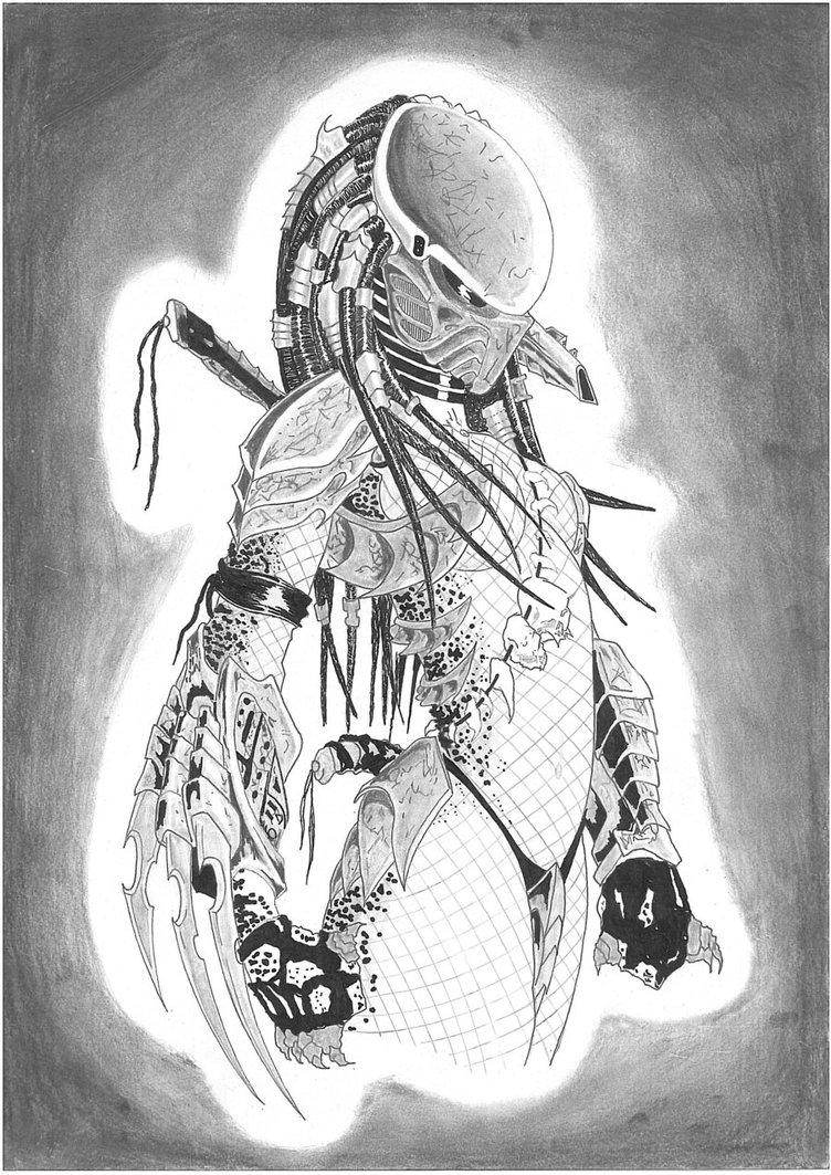 Drawn predator female predator DeviantArt on by by female