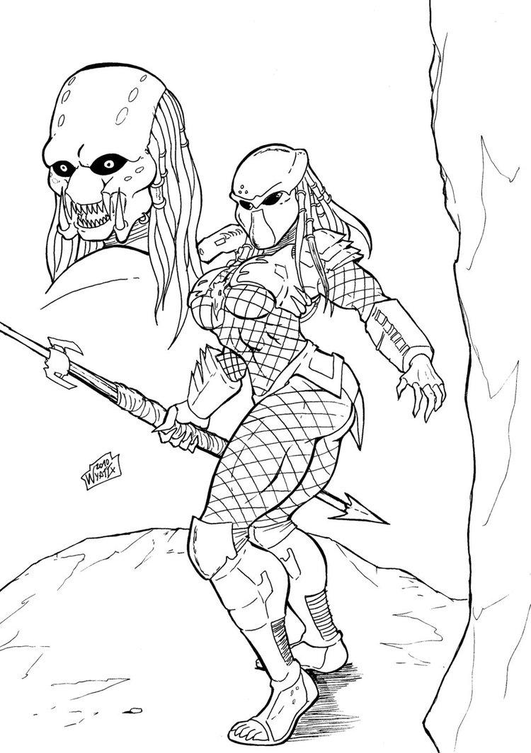 Drawn predator female predator Predator Predator female  Female