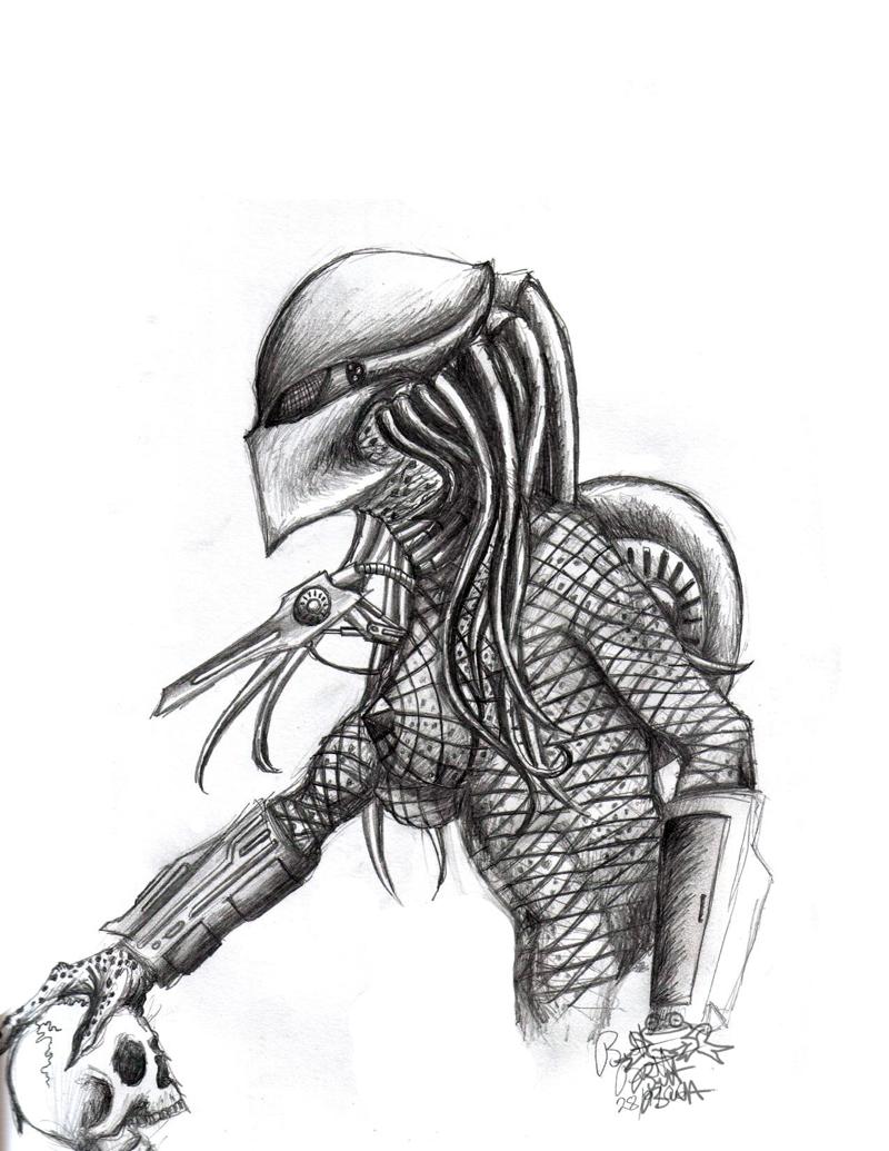 Drawn predator female predator Predator by female by by