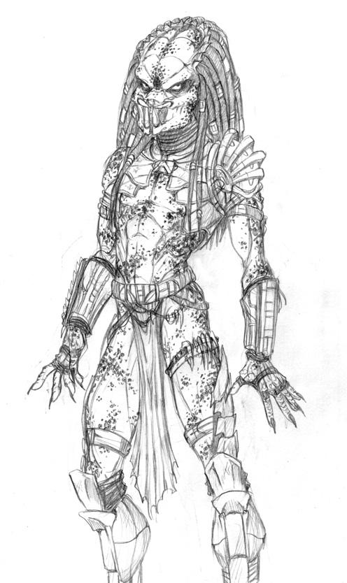 Drawn predator female predator Predators comics Female  in