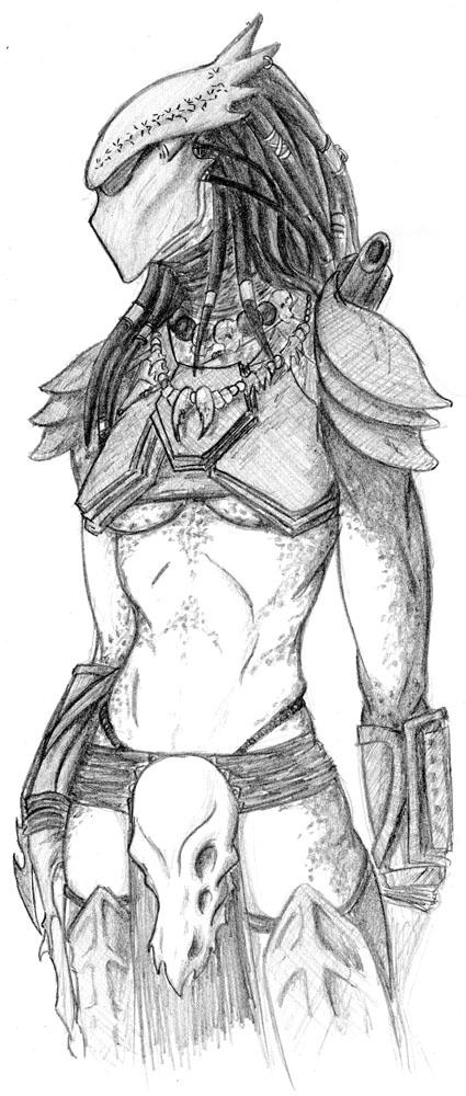 Drawn predator female predator DeviantArt on by by She