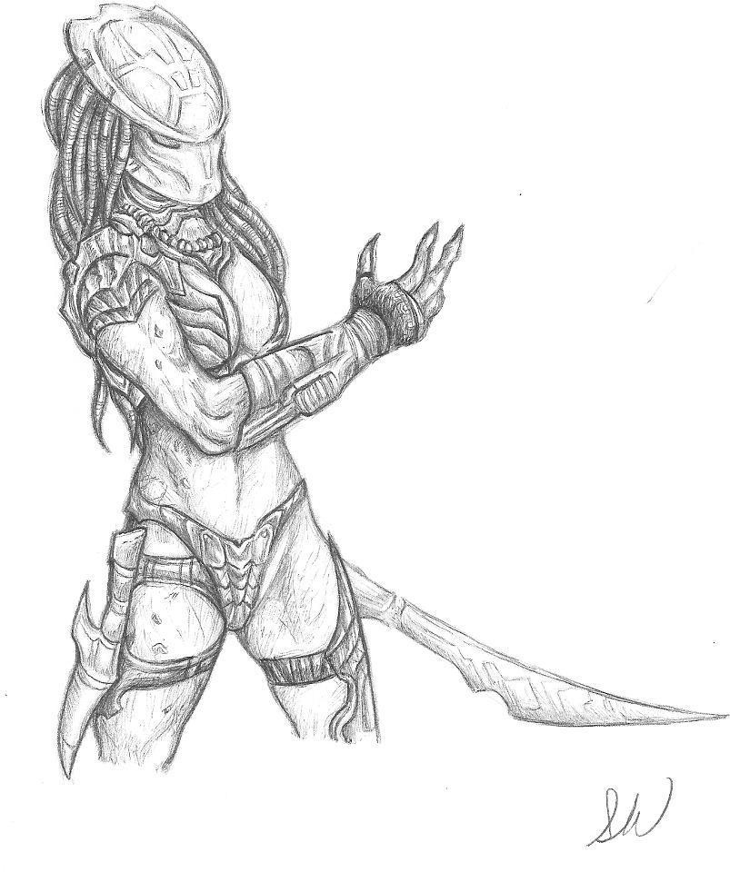 Drawn predator female predator From da DeviantArt female WintersAlexander