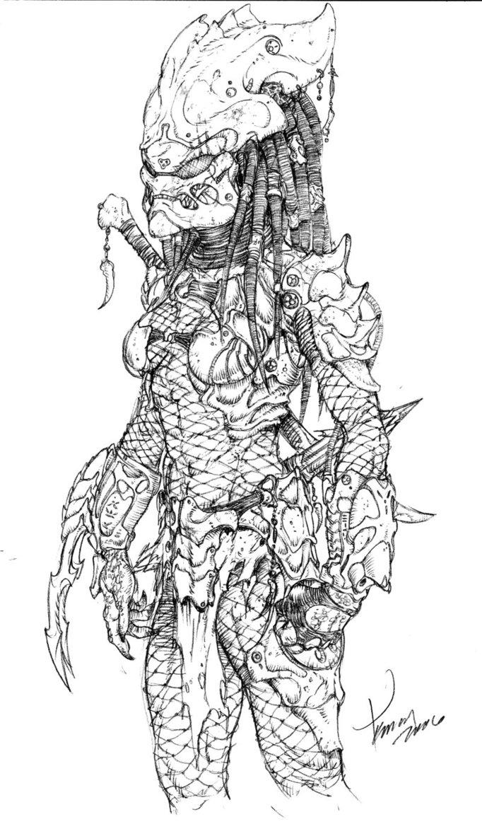 Drawn predator female predator By tdm 3 FEMALE 3