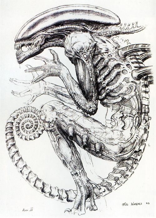 Drawn predator giger 51 H on r Pinterest