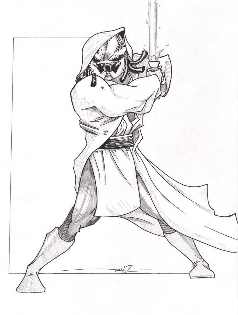 Drawn predator jedi TheRichSmithRobot by Jedi Jedi 5