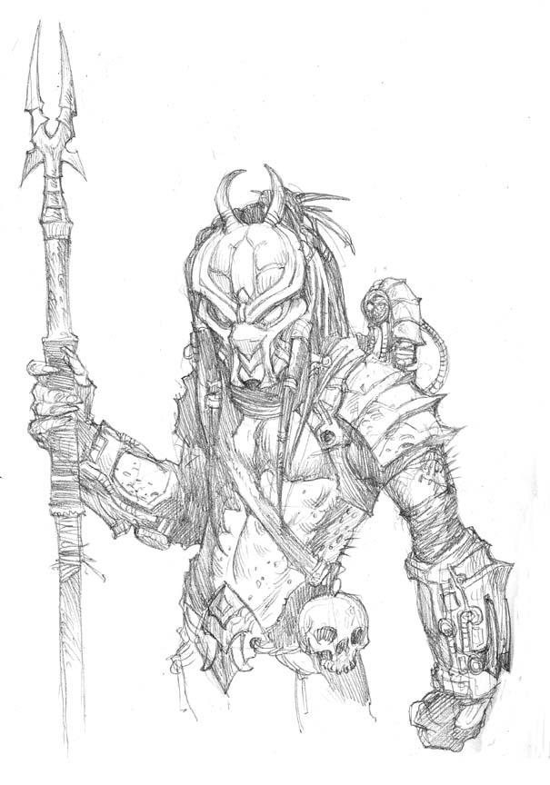 Drawn predator jedi Blog Draw Prescott Aliens Draw