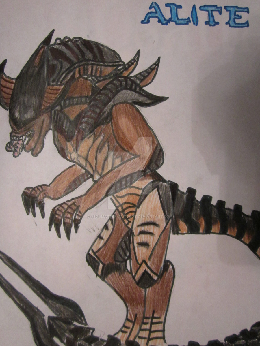 Drawn predator jedi Alien Alien Jedi Halo Hybrid