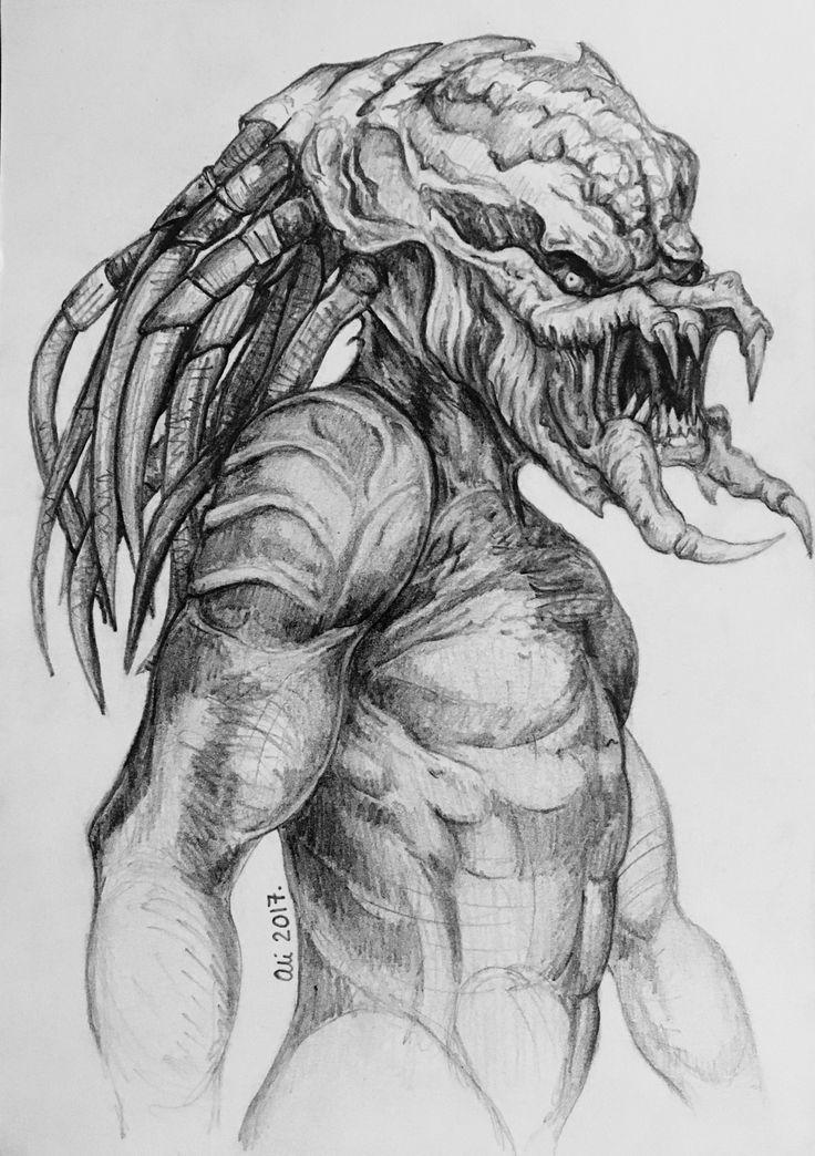 Drawn predator jedi Ali by drawing best unmasked