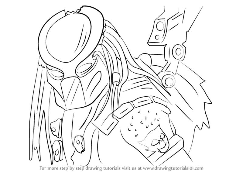 Drawn predator jedi X Mortal  from Kombat