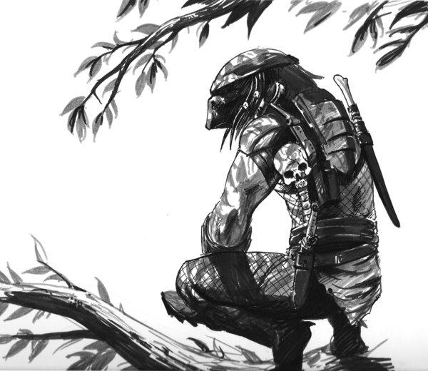 Drawn predator jedi Predator Trick Art Jedi deviantART