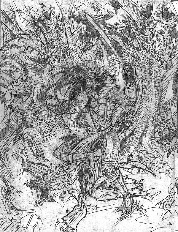 Drawn predator jedi Jedi Predator Khenmes DeviantArt Jedi