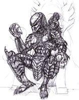 Drawn predator king Sketches Predator DeviantArt on by